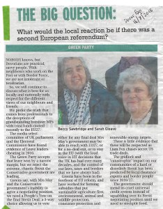 Clipping from the Dover Express