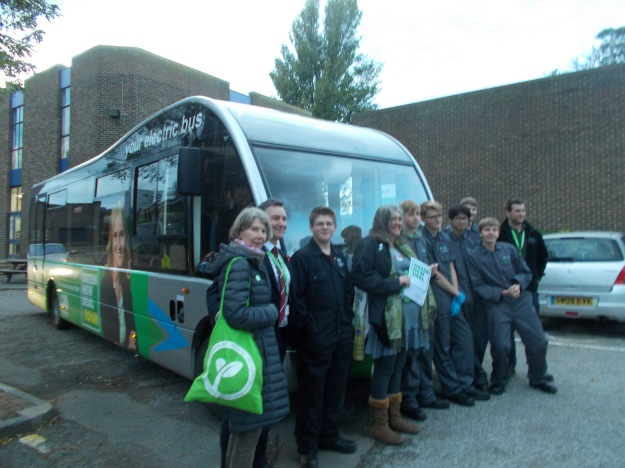 Student from Dover Technical College alongside local Green Party members